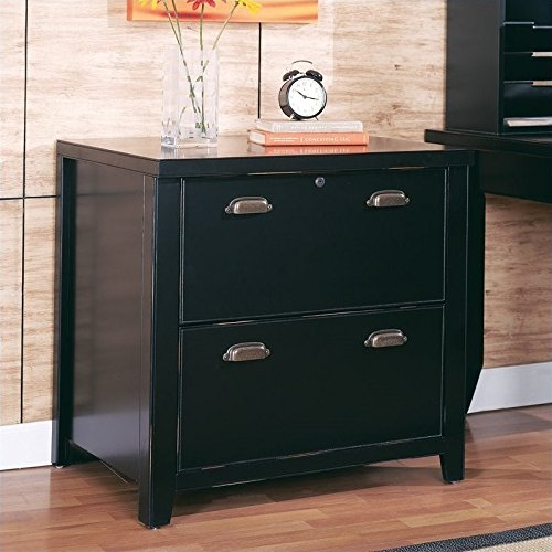 - Martin Furniture Tribeca Loft Black 2-Drawer Lateral File Cabinet - Fully Assembled