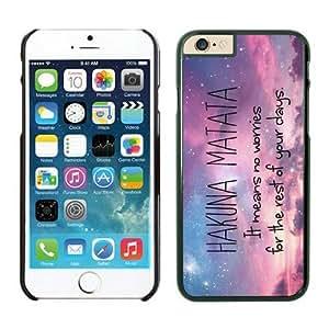 Hot Sell TPU Apple Iphone 6 Case Cover in Black Hakuna Matata Pink New
