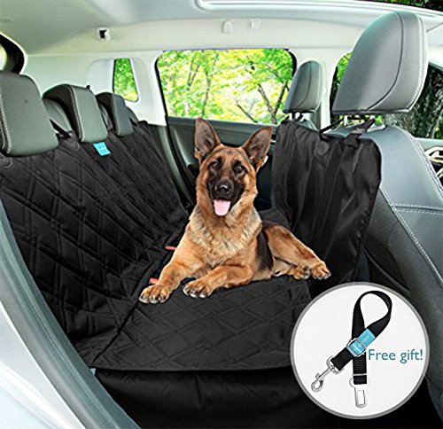 Dog Backseat Hammock Seat Cover Style 2 in 1, Durable, Wateproof, Non slip rubber backing with anchors Washable for trucks cars suv's by Duke & Dixie