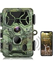 4K Native 30MP WiFi Trail Camera Bluetooth APP Control Hunting Game Camera with Night Vision 120° Wide 65ft Trigger for Wildlife Monitoring IP66 Waterproof