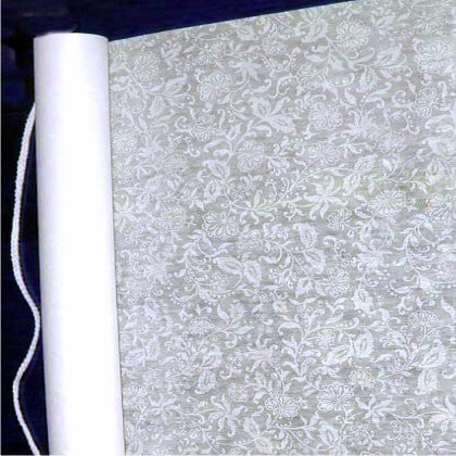 Dexon Power French Lace Wedding Aisle Runner 75' Soft White