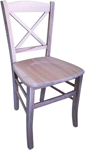 Vendita Sedie Legno Grezzo.Sedia In Legno Massello Grezzo Da Verniciare Seduta In Legno