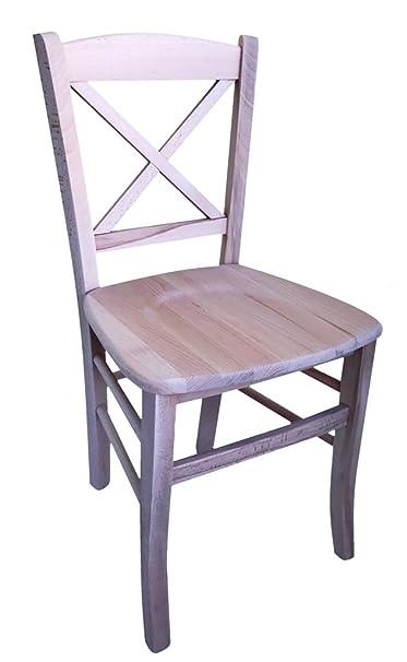 Sedie In Legno Anni 50.Sedia In Legno Nuova Gia Montata Grezzo Da Verniciare Modello