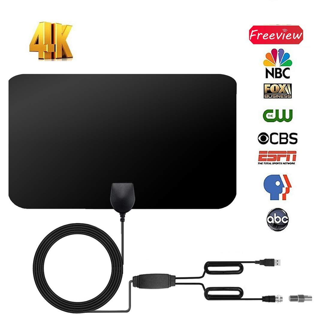 Sewell Apparel HDTV Antenna Indoor Digital 60-80 Miles Long Range TV Antenna Switch Console Amplifier Signal Booster 13.12FT High PerformanceCoaxial Cable