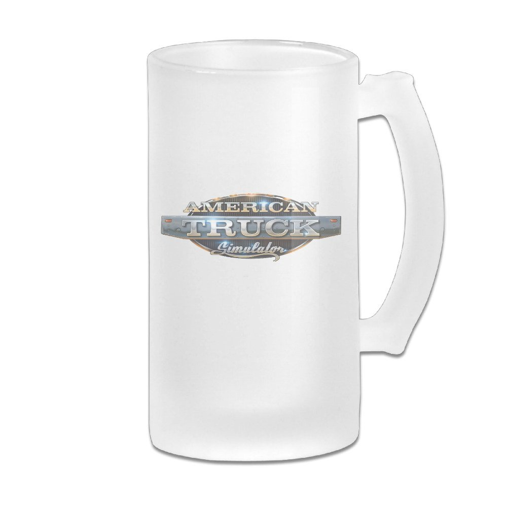 American Truck Simulator Great Extra Large Frosted Glass Beer Mug, Personalized Beer Stein, Tea / Coffee Cups - 17 Ounce / 500ML
