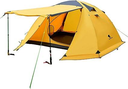 Durable Extérieur Camping Tente famille Randonnée Bois 3 personne tente camping Vendeur Britannique