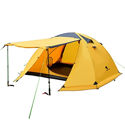 wholesale dealer 86b70 09500 GEERTOP Portable 4 Person 4 Seasons Backpacking Tent Double Layer  Waterproof Larger Family Camping Tent Lightweight for Camp Outdoor Sports  Hiking ...