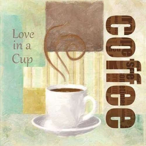 """LOVE IN A CUP by Taylor Greene - 24"""" x 24"""" Giclee Canvas Art Print"""