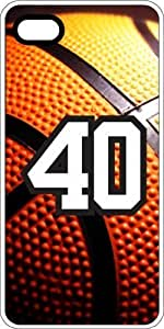 Basketball Sports Fan Player Number 38 White Plastic Decorative iphone 4s Case