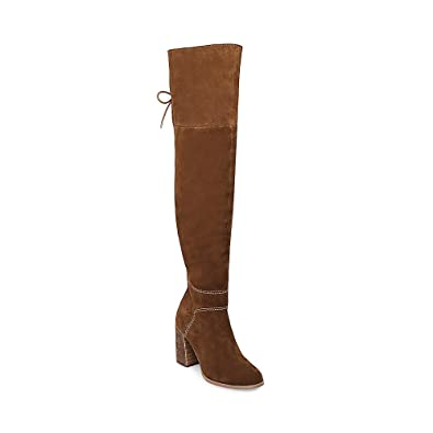 02cff5b8c2ab Steve Madden Womens Novela Suede Round Toe Over Knee Riding, Tan Suede,  Size 5.5