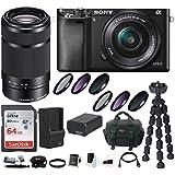Sony ILCE-6000LB Alpha A6000 Mirrorless Digital Camera (Black) Bundle with Sony E 55-210mm F4.5-6.3 Lens (Black) + Sony 32GB SDHC/SDXC Class 10 UHS-1 Memory Card + Camera Case + NPFW50 Battery