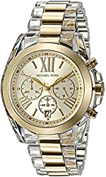 Michael Kors Watches Bradshaw Clear Acetate and Gold-Tone Chrono Watch