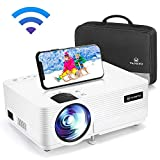 "VANKYO LEISURE 470 Wireless Projector with Synchronize Smart Phone Screen, Mini WIFI Video Projector, 1080P Supported, 4000 LUX with 250"" Display, Compatible with TV Stick, PS4, HDMI, TF, AV, USB"