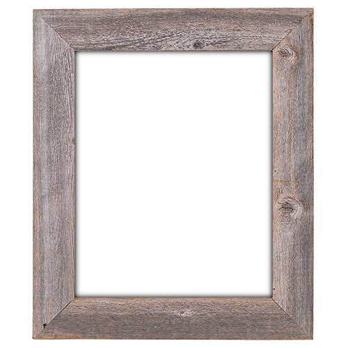 "16x20 - 3.5"" Extra Wide Reclaimed Rustic Barnwood Wall Frame - No Plexiglass or Back"