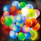 LED Light up Flicker Party Balloons Pack of 30 multi color Night laterns for Kids Adults Birthday Sleepovers Rave Weddings