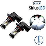 ford escape led - SiriusLED 9005 9145 H10 Size Projection LED Super Bright 30W 6000K White Fog Light DRL Bulb Pack of 2