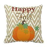 Happy Fall Pumpkin Chevron Zigzag Pattern Throw Throw lovely 1818 pillow case Case
