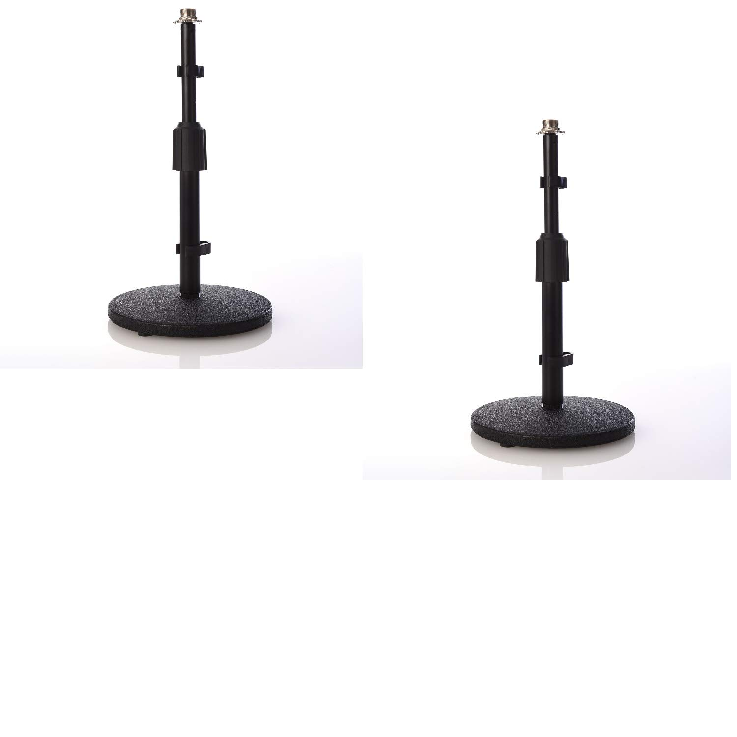 3//8-5//8 Adaptor Weighted Base LyxPro 2 Pack DKS-1 Desktop Microphone Stand Adjustable Height