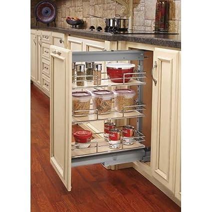 Rev A Shelf Short Pullout Maple 8 7/8u0026quot; Width Pantry