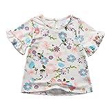 Sooxiwood Little Girls T-Shirt Top Flower Summer Size 2T Style-B