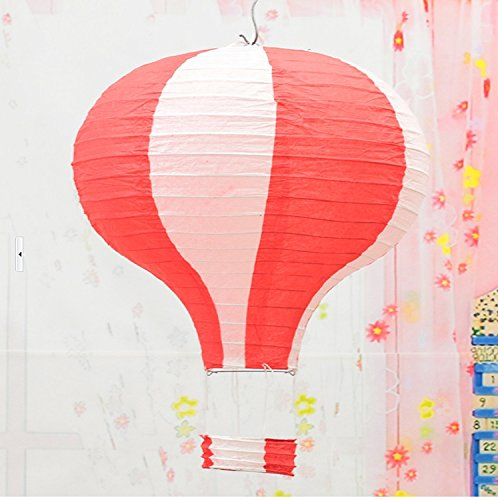 YCT-Hot-Air-Balloon-Paper-Lanterns-Party-Accessoryset-of-3-12-inch-RedWhite