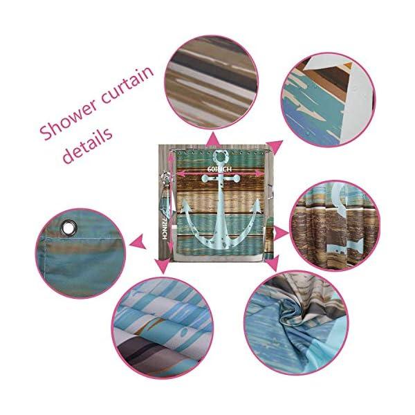 Bathroom 5 Piece Set shower curtain 3d print Multi Style,Alaskan Malamute,Klee Kai Puppy Sitting on Grass Looking Up Friendly Young Cute Animal Decorative,Multicolor,Bath Mat,Bathroom Carpet Rug,Non-S 2