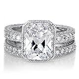 Khloe Kardashian Inspired Wedding Ring Set - Petite 2.5 Carats