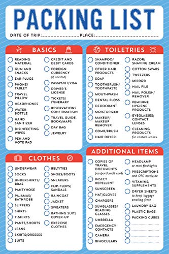 Packing List - Note Pad (60 sheets)