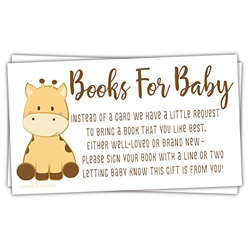 50 Giraffe Books for Baby Shower Request Cards