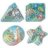 "Fun-Filled Mini Rainforest Friends Maze Puzzle Party Favours, Plastic, 2"" x 2"", Pack of 12"