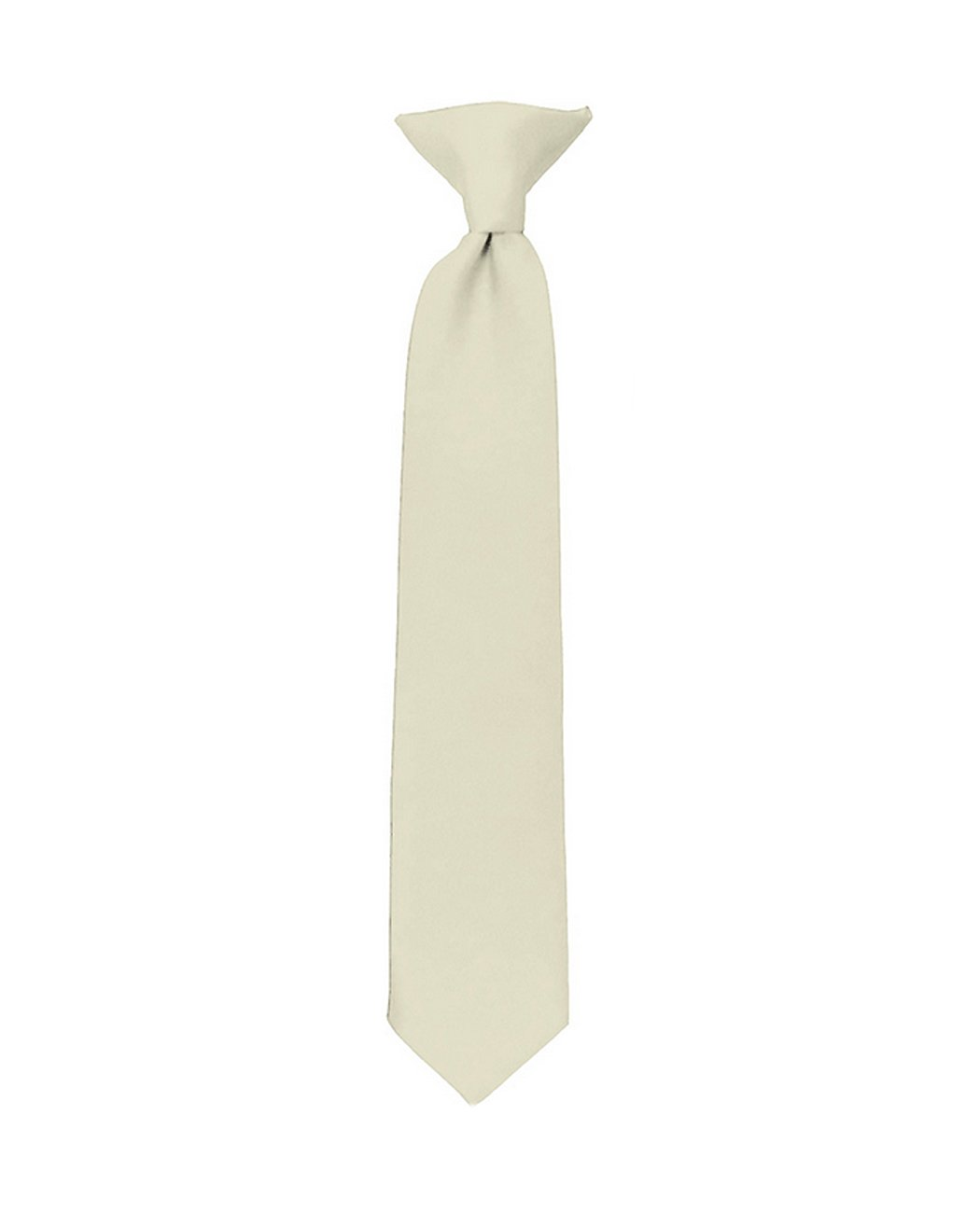 NYfashion101 Boy's Solid Clip on Tie - Golden Yelllow C48-Golden Yellow-8