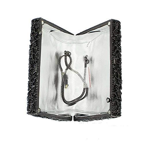 En Avec Argent couleur Cadeaux Noir Main Sac Dinner Crystal Pour Femmes Sacs Strass Box De Package Vêtements Embrayage Des À Black H4qx7UwZ