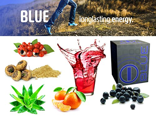 bhip BLUE Energy Blend Drink-Vitamins Mineral Health Care Fitness Weight Loss