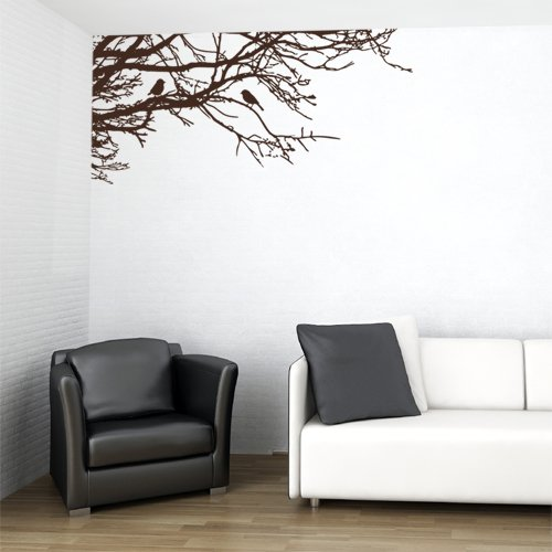 wall decal tree branch brown - 9