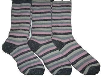 Storeline Women's Stripe Ski Socks (3 Pair)