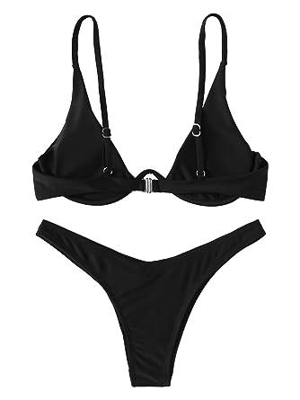 SOLY HUX Mujer Conjunto De Bikini Push Up con Aro con Pernera Alta ...