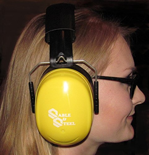 Sable & Steel Highest NRR 35db Safety Ear Muffs Auto Adjustable Earmuffs Shooters Hearing Protection Ear Muffs For Sports Outdoors Shooting Racing Work. Fits Adults Children.Yellow by Sable & Steel (Image #8)
