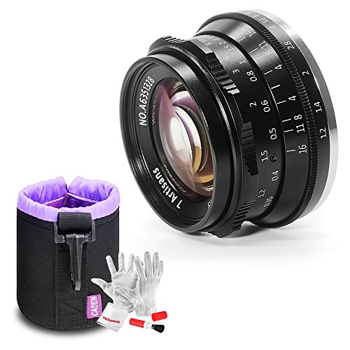 7artisans 35mm F1.2 Large Aperture Prime APS-C Aluminum Lens for Fuji X Mount Mirrorless Cameras X-A1 X-A10 X-A2 X-A3 X-at X-M1 X-M2 X-T1 X-T10 X-T2 X-T20 X-Pro1 X-Pro2 X-E1 X-E2 X-E2s