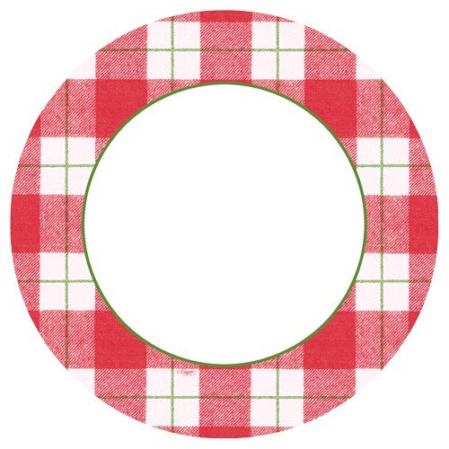 Tartan Plaid Christmas Paper Plates Christmas Party Holiday Red Christmas Plaid Dinner Plate Pk 16