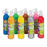 Creativity Street Ck8563 Glitter Glue, Assorted Metallic Colors, 8 Oz., 8 Bottles