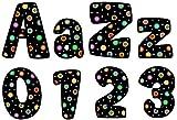 Creative Teaching Press Dots on Black 4-Inch Designer Letters (1196)