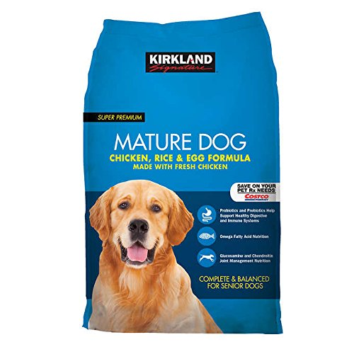 Kirkland Signature Expect More Mature Formula Chicken, Rice and Egg Dog Food 40 lb.