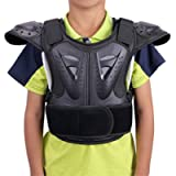 WINGOFFLY Kids Chest Spine Protector Body Armor Vest Protective Gear for Dirt Bike Motocross Snowboarding Skiing, Black…