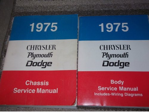 1975 Chrysler CORDOBA Service Shop Repair Manual Set FACTORY OEM 75 (service manual, and the body service manual which includes the wiring diagrams manual.)