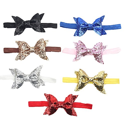 Century Star Baby Girl Toddler Sweet Bow Dot Knotted Wrap Christmas Headband 7PCS