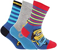 Despicable Me Official Childrens/Kids Minions Ankle Socks (Pack Of 3)