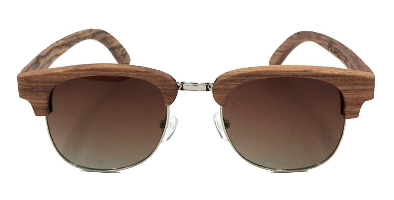 Wayfarer Reto/Vintage Bambus/Holz Sonnenbrille Polarisierte Sonnenbrillen Fashion Wooden Sunglasses Aviator/Fliegerbrille verspiegelt verschiedene Farben