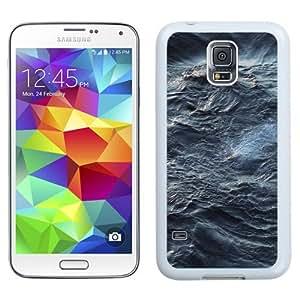 NEW Unique Custom Designed Samsung Galaxy S5 I9600 G900a G900v G900p G900t G900w Phone Case With Sea Waves Texture_White Phone Case