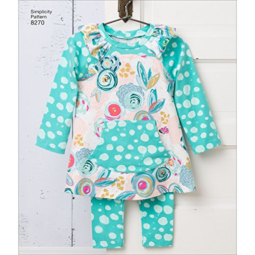 (Simplicity Creative Patterns Simplicity Pattern 8270 Toddlers' Knit Sportswear from Ruby Jean's Closet, Size: A (1/2-1-2-3-4), A ()