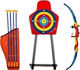 Savage Island Kids Toy Bow & Arrow Archery Set with Arrow Holder with Target Stand Outdoor Garden Fun Game